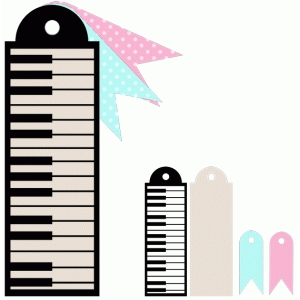 piano tag set