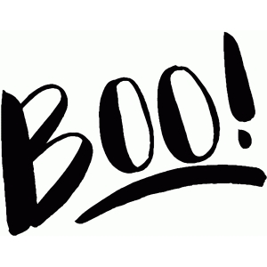 boo! hand lettering