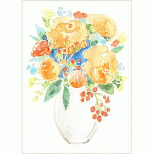 watercolor bouquet print & frame