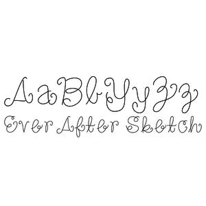 ever after sketch font
