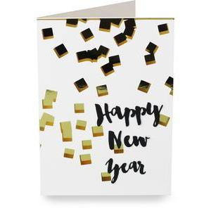 confetti happy new years folded card