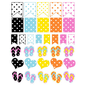 polka dot flip flop stickers