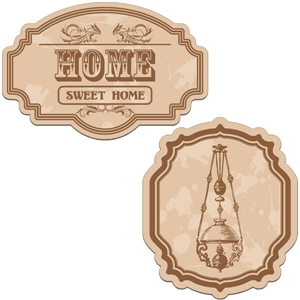 vintage labels - home sweet home