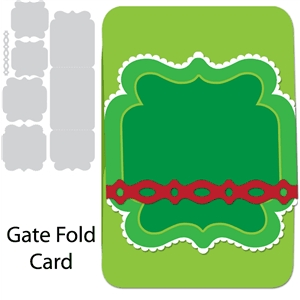 card gate fold with ribbon