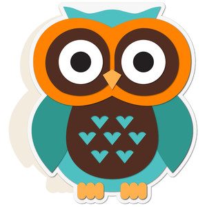 owl shaped card