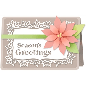 season's greetings poinsettia card