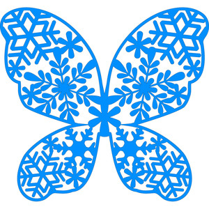 snowflake butterfly