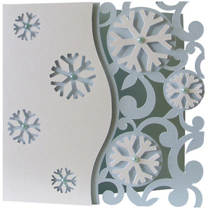 snowflakes layer card