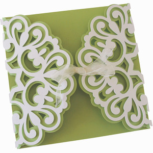 abstract gate fold layer card