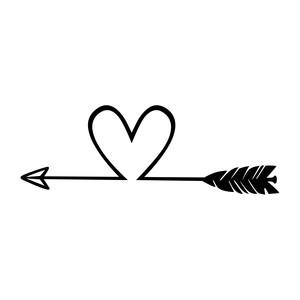 Silhouette Design Store - View Design #179812: heart arrow