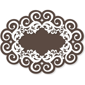 oval swirls label/frame