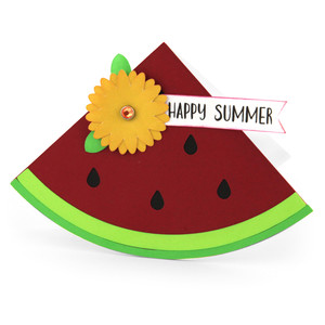 shaped card watermelon