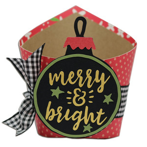 merry and bright ornament wrap box
