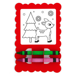 christmas card coloring reindeer