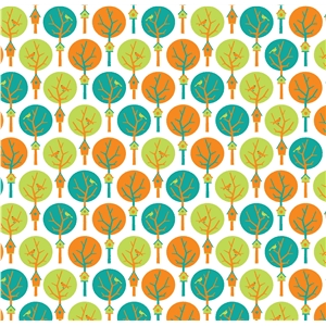 trees pattern white background
