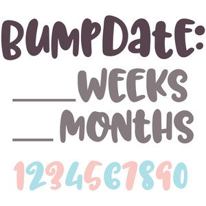 bumpdate: pregnancy countdown set