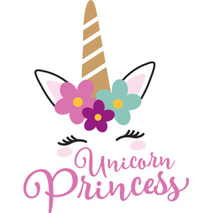 princess floral unicorn
