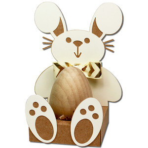 bunny easter egg holder