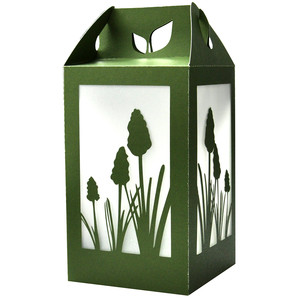grape hyacinth spring flower lantern