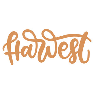 harvest handlettered
