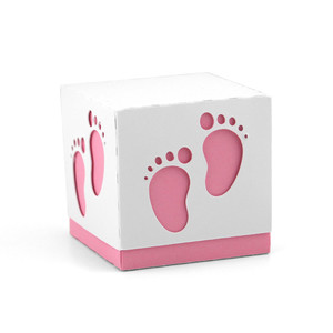 box baby footprint