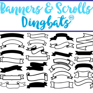 sg banner & scroll dingbats