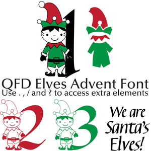 qfd elves advent font