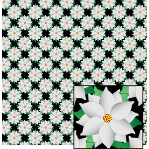 white poinsettia pattern
