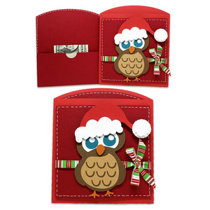 santa owl money/gift card pocket envelope