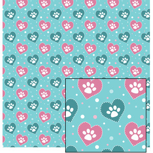 doggy valentine pattern