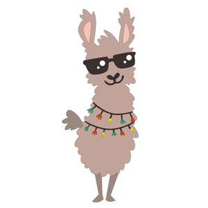 llama with sunglasses