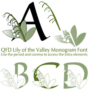 qfd lily of the valley monogram font