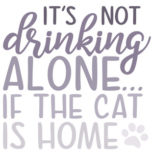 drinking alone-cat