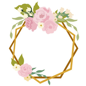 floral frame wedding event