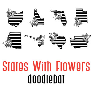 states with flowers doodlebat