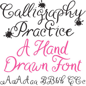 sg calligraphy practice hand drawn font