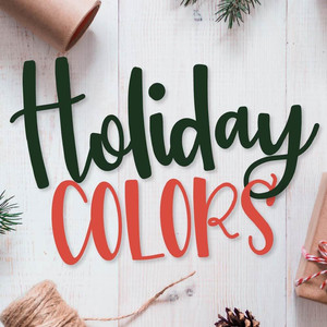 holiday colors font