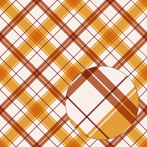 yellow & orange fall plaid seamless pattern