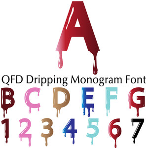 qfd dripping monogram font