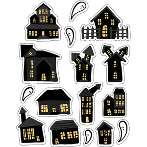 ml haunted house halloween stickers