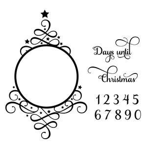 days until christmas countdown tree