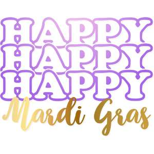 triple happy mardi gras
