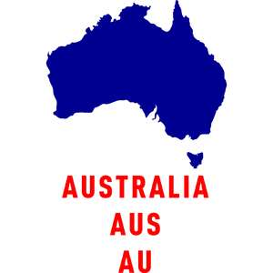 australia country outline