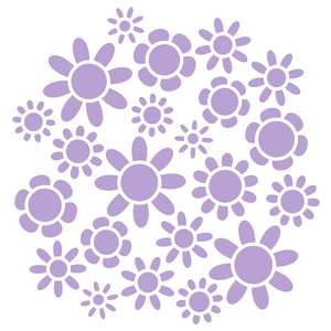 flower stencil background