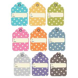 polka dot gift tags