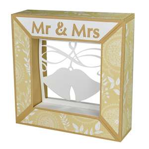 mr. & mrs. wedding bells framed