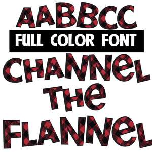 channel the flannel color font