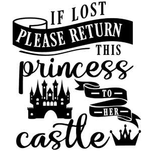return lost princess to castle