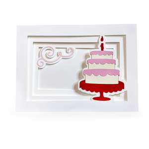 birthday cake shadow box card