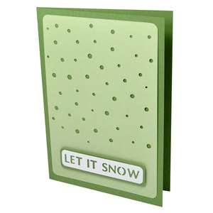 let it snow stencil card